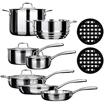 Amazon Com Chef S Star Premium Pots And Pans Set 17