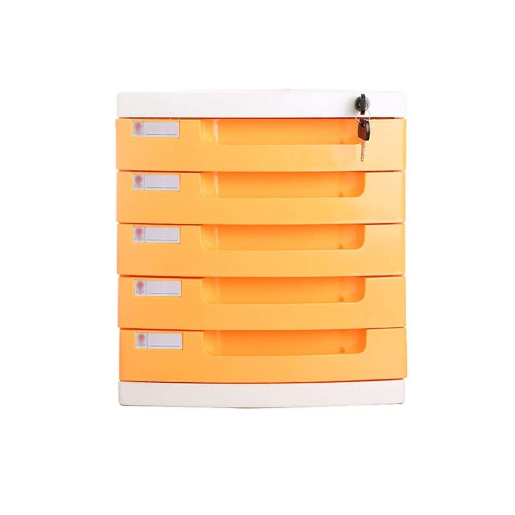 Bxwjg Lockable Data Cabinet, 5-Layers Desktop File Cabinet with Drawer File Storage Cabinet Office Supplies Portable and Tidy Storage Box (Color : B1) by Bxwjg