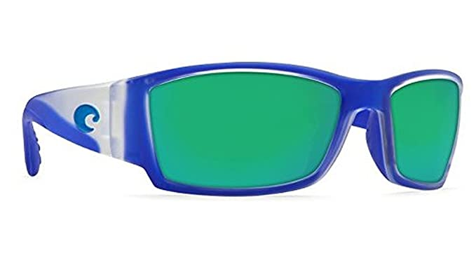 739382124875 New Costa Del Mar Corbina CB 67 Matte Crystal W Blue Trim Sunglasses for  Mens - Size 580G (Green Mirror Lens)  Amazon.co.uk  Clothing