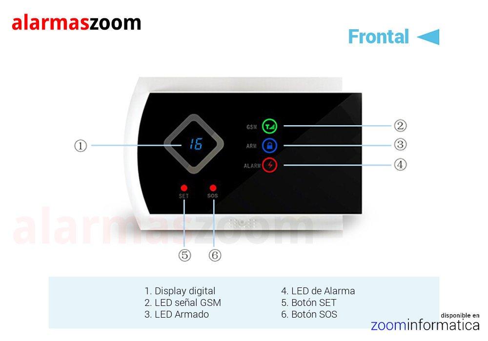 Alarma GSM Hogar inalámbrica G10A AZ016 on pantalla led y ...