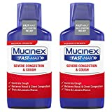 Mucinex Fast-Max Severe Congestion & Cough Multi-Symptom Max. Strength Liquid- Expectorant, Cough Suppressant, Nasal Decongestant, w/Dextromethorphan, Phenylephrine & Guaifenesin, 9 oz. (Pack of 2)