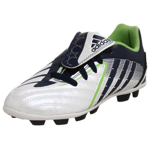 adidas Little Kid/Big Kid Predito Ps Trx Hg Soccer Cleat,White/Indigo/Green,3 M US Little Kid