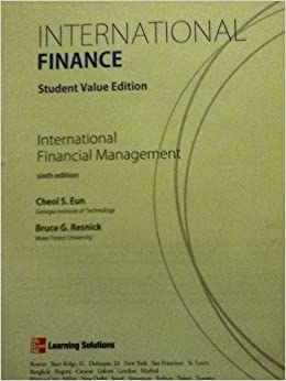 INTERNATIONAL FINANCE CHEOL S EUN PDF DOWNLOAD
