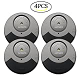 ACTNOW Security Sensor Alarm Black/Grey Ultra-Slim Window Alarm with Loud 100DB Alarm and Vibration Sensors - Modern & Ultra-Thin Design Compatible with Virtually Any Window(4 pack)