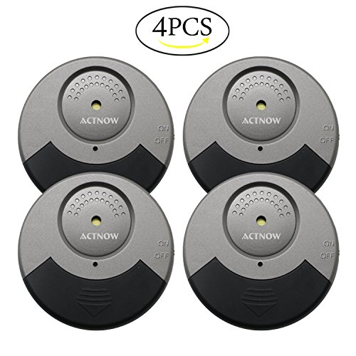 ACTNOW Security Sensor Alarm Black/Grey Ultra-Slim Window Alarm with Loud 100DB Alarm and Vibration Sensors - Modern & Ultra-Thin Design Compatible with Virtually Any Window(4 pack) by ACTNOW