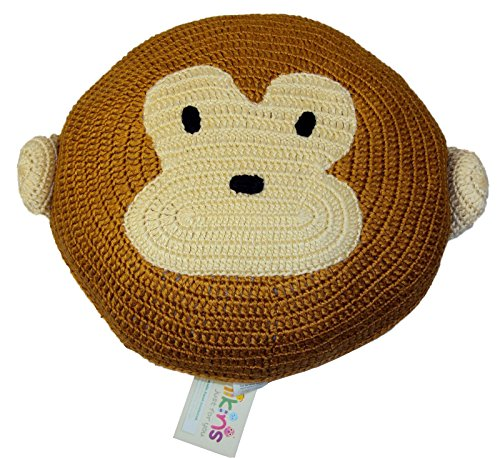 Play Pillow, Quality Hand Made Fun Pillow - Cuddly Animal Pillow For Kids, Pet Pillow, Eco-Friendly Pals For All Ages, KidStyle by Amikins, Best Friends Pillow, Decorative Kids Pillow - Monkey Brown, Cute Fun Toy, Kids Gift. by Amikins