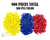 900 PCS Red Blue Yellow Vinyl Butt Connector 22-10 Gauge 12V Electrical Install