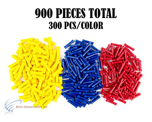 900 PCS Red Blue Yellow Vinyl Butt Connector 22-10 Gauge 12V Electrical Install by Install Bay by Metra Electronics (Image #9)