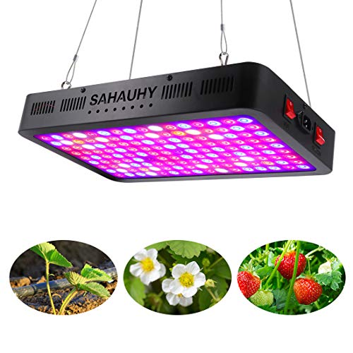 1500W LED Grow Light with Lens, SAHAUHY Full Spectrum LED Plant Growing Lamp for Greenhouse Hydroponic Indoor Plants Veg and Flower with Daisy Chain Double Chips(144pcs 10W)