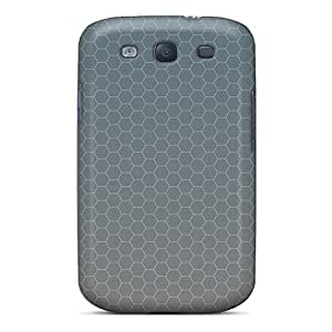 Unique Design Galaxy S3 Durable Tpu Case Cover Gray Honey Combs Pattern