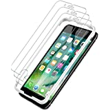 LK [3 Pack] iPhone 7 Screen Protector, [Tempered Glass][Case Friendly] DoubleDefence Technology [Alignment Frame] Easy Installation [3D Touch] Lifetime Replacement Warranty