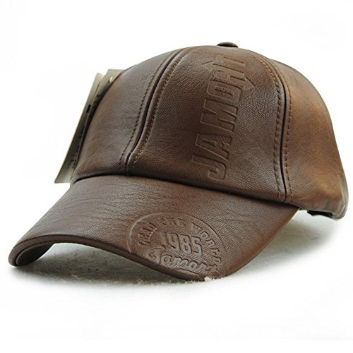 Fall Winter Men Leather Hat Cap casual hat men's baseball cap