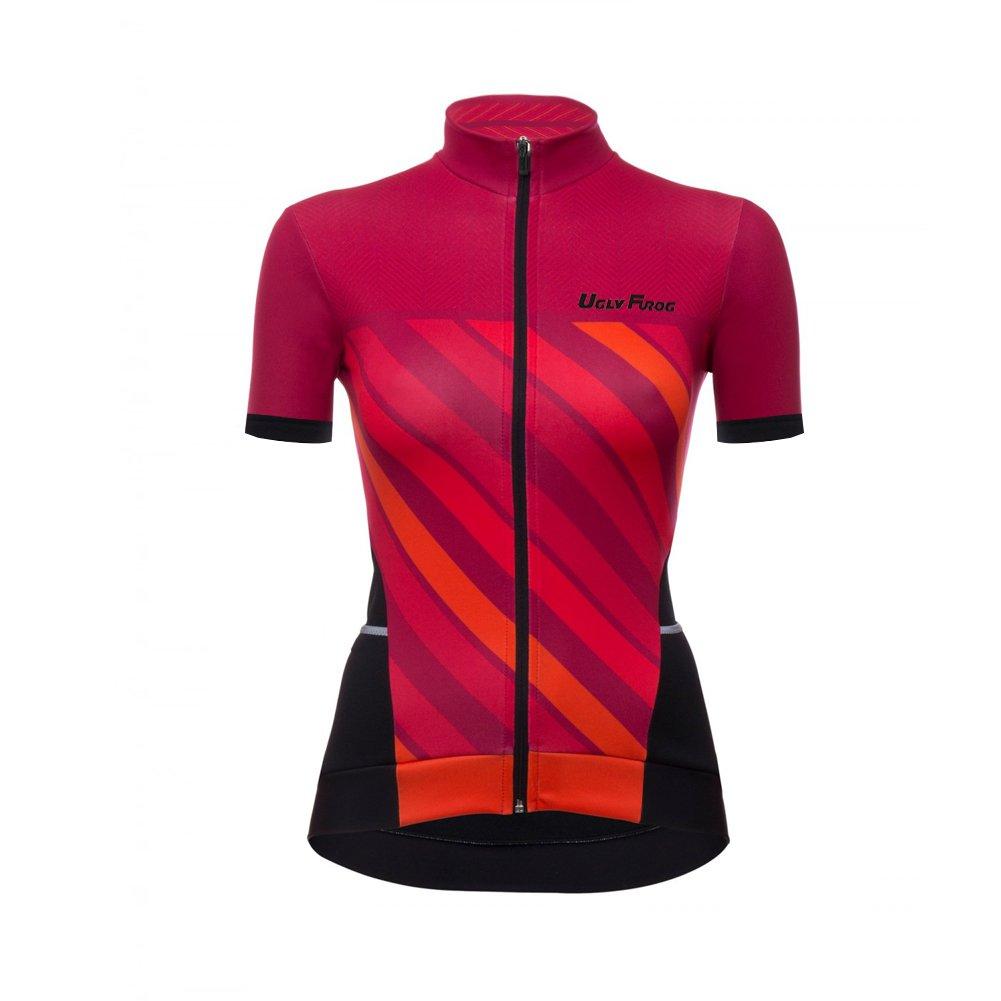 Uglyfrog Professionel Radsport Bekleidung Damen Summer Style Trikots & Shirts + Damen Radtrikot Set Radhose mit 3D Sitzpolster Rennrad DXWZ08F
