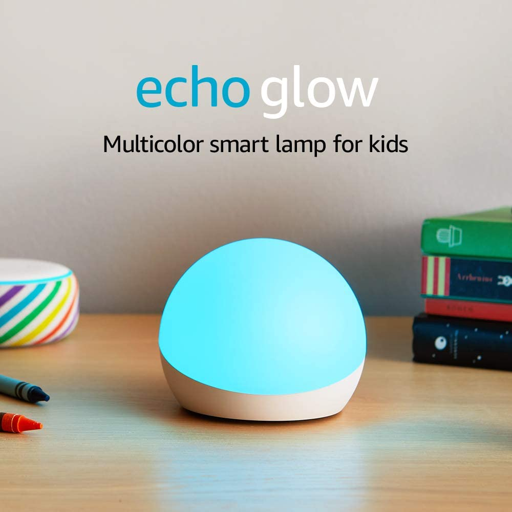 Echo Glow - Multicolor Smart Lamp for Kids, a Certified for Humans Device –Requires compatible Alexa device