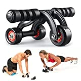 Itian AB Abdominal 3-Wheel Roller Workout Execise Body Gym Home Fitness Best Exercise Equipment For Abs