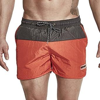 43c02cbed7903 DESMIIT Men's Pockets Short Swim Trunks Beach Shorts with Mesh Lining at  Amazon Men's Clothing store: