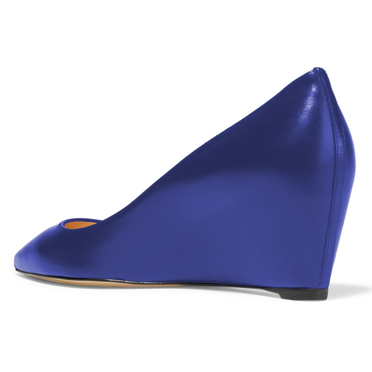 YDN Hidden Women Sexy Pointed Toe Hidden YDN Low Heel Wedge Pumps Slip on Dress Shoes for Office Lady B07C2SN4C8 14 B(M) US|Blue a1a683