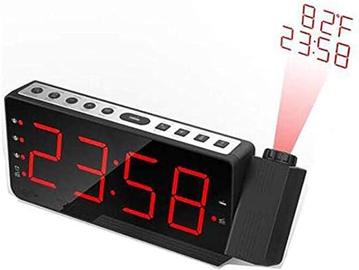 TYX Crossdresser Reloj Despertador Radio FM Reloj Despertador con ...
