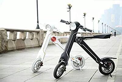 LEHE K1S Foldable Electric Bike Scooter 2016 Newest Model 27KMH 8.8AH 35-45KM Range Upgraded Brake System With Free LEHE Original Case/Bag (Black & White) Sellink Exclusive