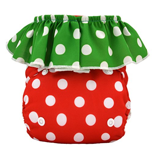 Alva Baby Strawberry Pocket Reuseable Washable Cloth Diaper Nappy + 2 Inserts HL01