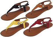 starbay Women's Roman Gladiator Roman Gladiator Sandals Flats Thongs with Bu