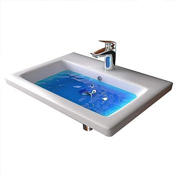 Weiss Waschtisch Mit Uberlauf Keramik Waschbecken 60 Cm Breite