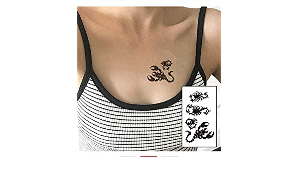 LFVGUIOP Tatuajes temporales -Cuerpo de la Moda Flash Tattoo Falso ...