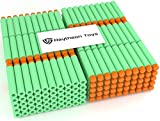 Green 300-Pieces Set, Ultimate Nerf Foam Toy Darts By Raytheon Toys, Premium Refill Bullets For N-Strike Guns, Universal Mega Pack, Firm and Safe Nerf Accessories Amazing Precision Control