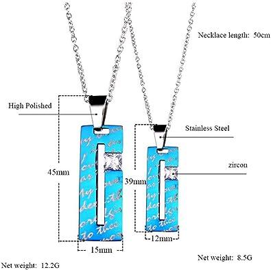 collier homme avec pendentif bleu