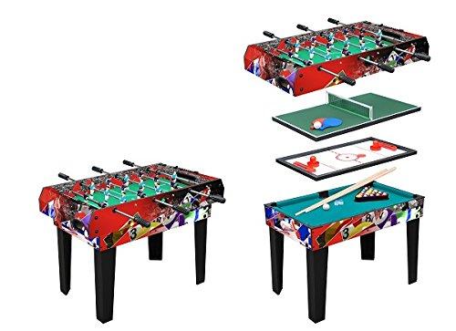 Tavolo Multigioco Moko - 4 Giochi in 1 - Bigliardo Hockey Ping pong Calciobalilla Aste Rientranti NOVITA'