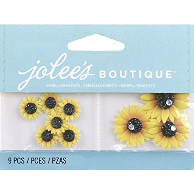 Jolee's Boutique Scrapbooking Embellishment, Mini Sunflowers