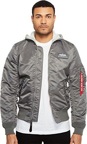 Alpha Industries Men's L-2B Hooded Jacket Gunmetal Outerwear by Alpha Industries
