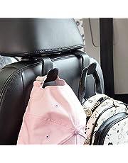 Car Hooks Universal Car Vehicle Back Seat Headrest Hanger Holder Hook Microfiber Leather & Stainless Steel for Bag Purse Cloth Drink Grocery