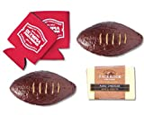 "Olympia Provisions ""Pig Skin"" Summer Sausage Football, Cheese, and Beer Koozie Gift Set"