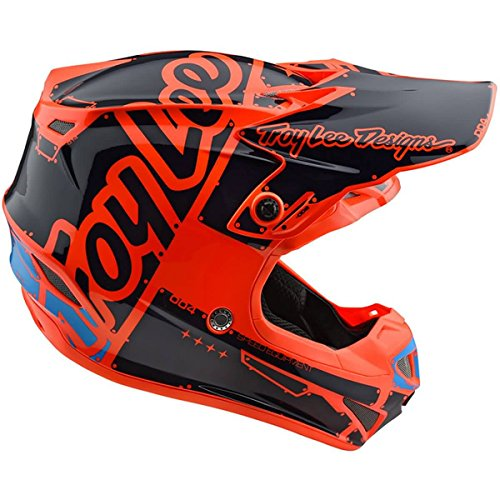 Troy Lee Designs SE4 Polyacrylite Off Road MX Helmet Mono Black Large