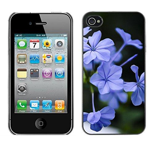 Premio Sottile Slim Cassa Custodia Case Cover Shell // F00005346 une fleur // Apple iPhone 4 4S 4G