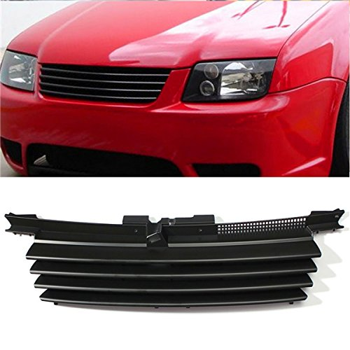 CoCocina Matte Black Front Hood Grille Badgeless Grill for VW Jetta Bora MK4 1999-2004