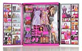Toywale Girl Doll and Her Personal Style Wardrobe Set Toy for Kids Girl's Fashion Stylish Dresses and Accessories