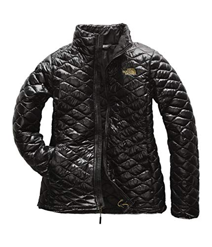 (The North Face Women's Thermoball Jacket Small TNF Black Shine)