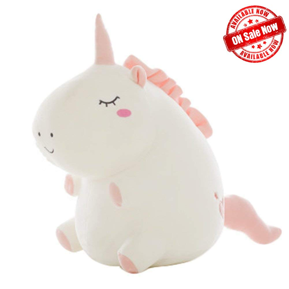 Fat Soft Unicorn Stuffed Animal,Unicorns Plush Pillow for Girls - Gift for Kids Babies Girls Birthday Party of All Ages.(12 inches) by Jane yre