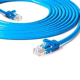 BEASON Cat5e Ethernet Patch Cable - RJ45 Computer Networking Cord - Blue 4 RJ45 connectors offer universal connectivity to computers and network components, such as routers, switch boxes, network printers, and network attached storage devices. Transfer data up to 1000Mbps ¨C such as the rate of the 5E/6 class level required Noise, interference & crosstalk are reduced with its twisted pair of copper strands & tough. Provide high-quality data transfer accuracy with no data loss.