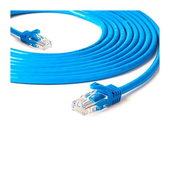 BEASON Cat5e Ethernet Patch Cable - RJ45 Computer Networking Cord - Blue 1 RJ45 connectors offer universal connectivity to computers and network components, such as routers, switch boxes, network printers, and network attached storage devices. Transfer data up to 1000Mbps ¨C such as the rate of the 5E/6 class level required Noise, interference & crosstalk are reduced with its twisted pair of copper strands & tough. Provide high-quality data transfer accuracy with no data loss.