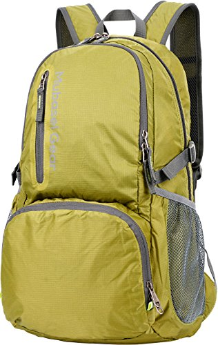 Womens Expedition Weight - Mubasel Gear Backpack - Lightweight Backpacks for Travel Hiking - Daypack for Women Men (Green)