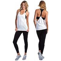 AILEESE Mujeres Yoga Activo Outdoor Sport Run Workout Abierto Camisole Chaleco Tank Top con Sujetador, Primavera/Verano…