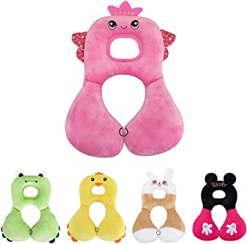 Pink Angel Baby Neck Support Pillow for Car Seat Infant Headrest Chin Support
