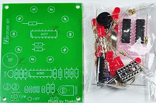 ELECTRONIC ROULETTE 10 DOT RED LED [ unassembled kit ] for student