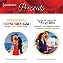 Bought for the Greek's Revenge & The Greek's Nine-Month Redemption Audiobook by Lynne Graham, Maisey Yates Narrated by Antony Ferguson, Rachel Fulginiti