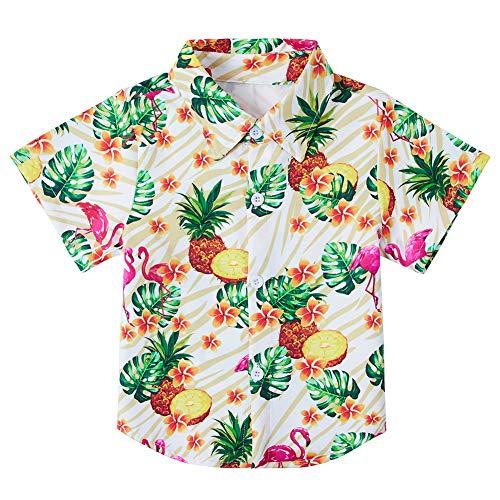 - Baby Boys' Hawaiian Tropical Shirts Button Up Toddler Polo Pineapple Flamingo Dress Shirts Vacation Blouse Aloha Summer Beachwear 7-8T