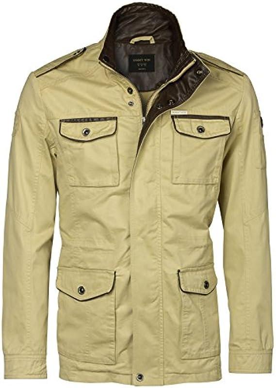 JAMMY - WIN męska Army MILITÄR kurtka bawełniana parka kurtka polowa vintage wojskowa kurtka męska: Odzież