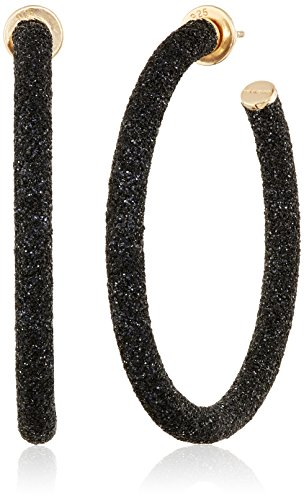"""Pesavento """"Polvere"""" Rose Gold and Black Finish Hoop Earrings"""
